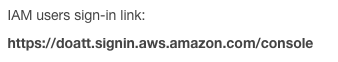 AWS - IAM - Console Link