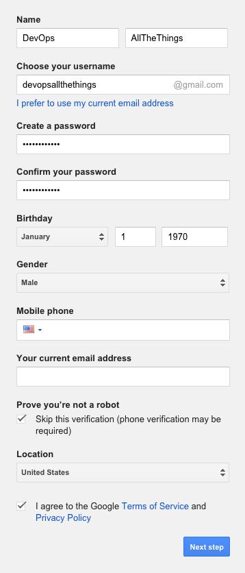 gmail - step 1