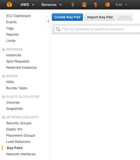 ssh keys - menu